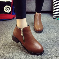 MANMANNI - Zip Ankle Boots