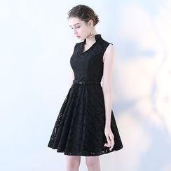 靜世奇緣 - 純色無袖禮服裙