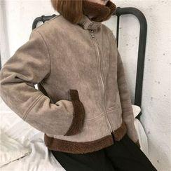 monroll - Fleece Lined Biker Jacket