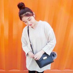 MePanda - Plain V-Neck Long Sweater