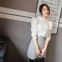 mimi&didi - Check-Patterned Miniskirt