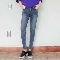 Seoul Fashion - Plain Skinny Jeans