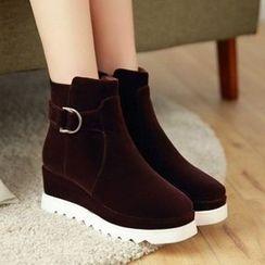 Tomma - Platform Wedge Short Boots