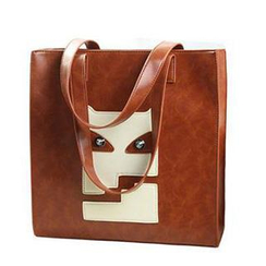 SUOAI - Appliqué Faux Leather Tote