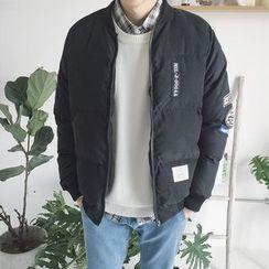 Dubel - 貼飾加棉拉鍊夾克