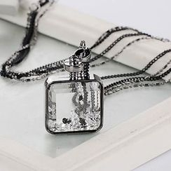 Jemai - Perfume Bottle Pendant Layered Necklace