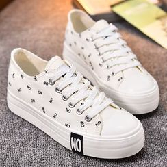 BUDING - Letter Canvas Sneakers