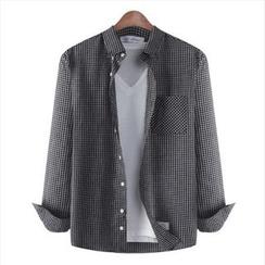 WIZIKOREA - Check Shirt
