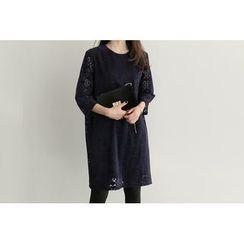UPTOWNHOLIC - 3/4-Sleeve Laced Dress