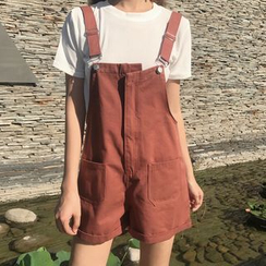 ever after - Plain Pocketed Pinafore Playsuit