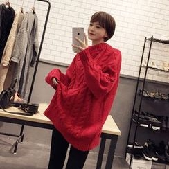 TriStyle - Cable Knit Long Sweater
