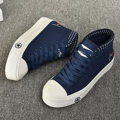 BUDING - Platform Canvas Sneakers