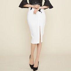 Amella - Slit Midi Skirt