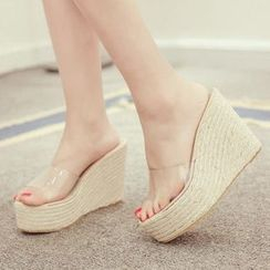 Monde - Espadrilles Wedge Slide Sandals