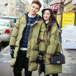 uninukoo - Couple Matching Hooded Down Coat