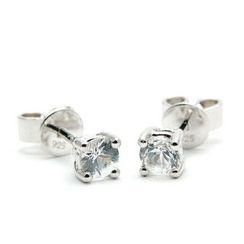 Bellini - White sapphire stud earrings
