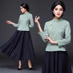 Ebbie - 3/4 Sleeve Cheongsam Top