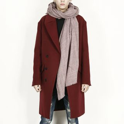 Rememberclick - Wool-Blend Double-Breasted Coat