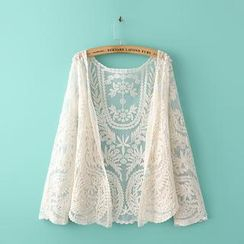 Ainvyi - Jacquard Open-front Cardigan