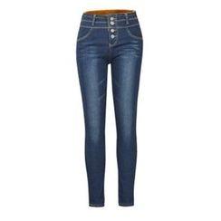 Flore - High-Waist Fleece-Lined Skinny Jeans