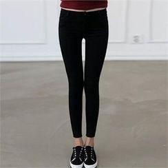 CHICFOX - Fleece-Lined Skinny Pants