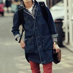 Bay Go Mall - Denim Trench Jacket