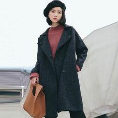 TREEZIN - Single-Button Melange Coat