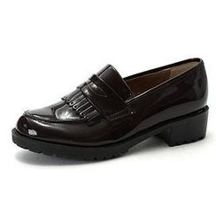 MODELSIS - Genuine Leather Patent Loafers