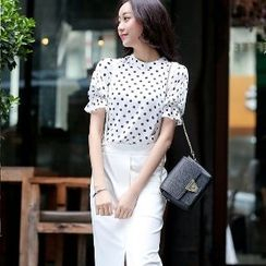 Romantica - Set: Dotted Top + Jumper Skirt