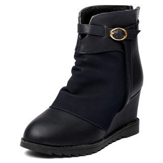 yeswalker - Back Zip Wedge Ankle Boots