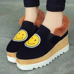 SouthBay Shoes - Smiley Platform Loafers