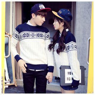 Simpair - Nordic Print Couples' Sweater