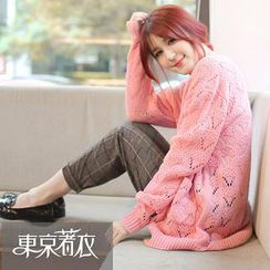 東京著衣 - 鏤空針織開衫