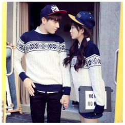 Simpair - Nordic Print Couples' Sweater