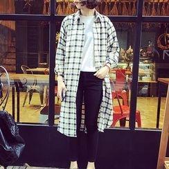 Fashion Street - Plaid Long Shirt