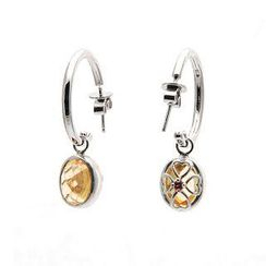 Bellini - Citrine Drop Earrings