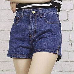 Honey House - High-Waist Denim Shorts