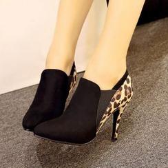 錦洋鞋業 - 豹紋尖頭高跟鞋