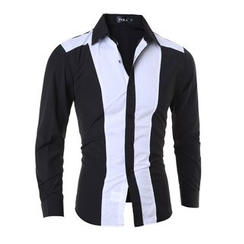 Hansel - Color Block Long Sleeve Shirt