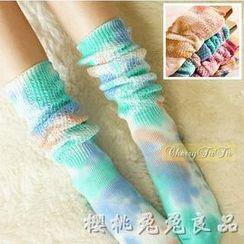 CherryTuTu - Tie-Dyed Long Socks