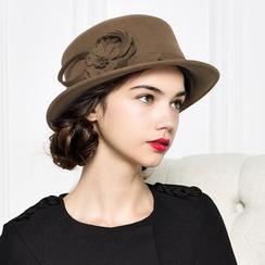 BADA - 花蕊毛呢毡帽