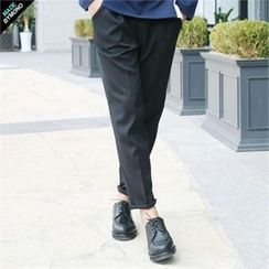 BYMONO - Drawstring-Waist Tapered Dress Pants