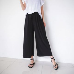 JUSTONE - Drawcord Wide-Leg Pants