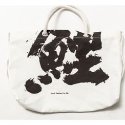 Ashen - Printed Canvas Tote