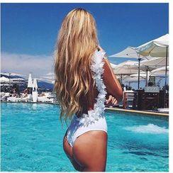 Fundae - Frill Trim Open Back Swimsuit