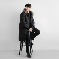 Seoul Homme - Faux-Fur Trim Hoodie Parka