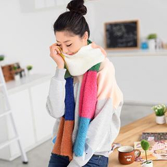 59 Seconds - Color-Block Knit Scarf