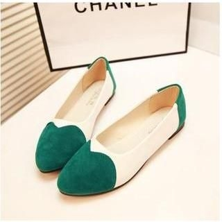 QQ Trend - Color-Block Pointy Flats