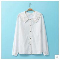 Rosadame - 鉤織拼接襯衫