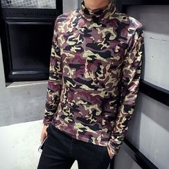 Hawoo - Turtleneck Printed T-Shirt